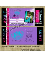 Juicy Couture Quinceanera Invitations - Purple Pink