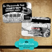 Silver Masquerade 35th Birthday - Credit Card