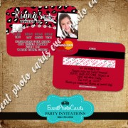 Red Cheetah Quince Invitations - Credit Card