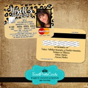 Cheetah Quinceanera Invitations - Credit Card