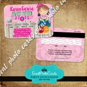 Charro Quinceanera Pink  Invitations