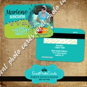 Peacock Quinceanera Party Card Invitations