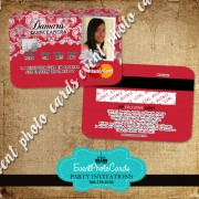 Silver & Red Party Card Invite