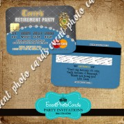 Retirement Invitations - Credit Card
