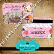 Rustic Country Chic Wedding Credit Card