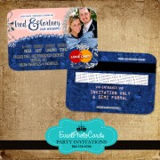 Denim Blush Wedding Invitations - Credit Card