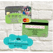 Wedding  - Credit Card Green  Invitations