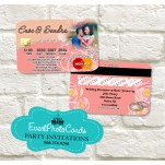Wedding  - Credit Card Light Coral Invitations