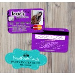 Purple Music Sweet 15 - Quinceanera Invitations Credit Card