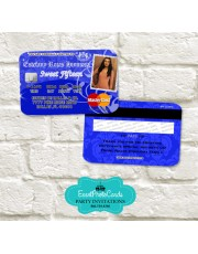 Juicy Couture Party Card Invitations - Royal Blue