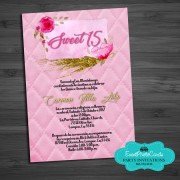 Gold Pink Elegant Fashion Invitations