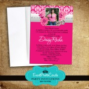 Roses Quinceanera Invitations - Pink