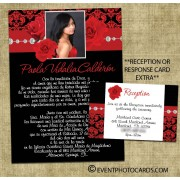 Roses Quinceanera Invitations - Red