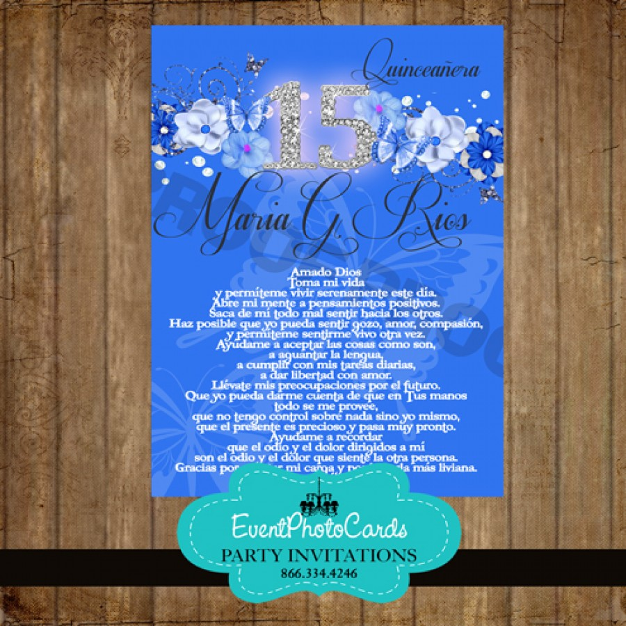royal blue butterfly wedding invitations royal blue butterflies 15 floral sweet 15th invites - Royal Blue Quinceanera Invitations