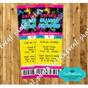 Glow Party Ticket Invitations - 16