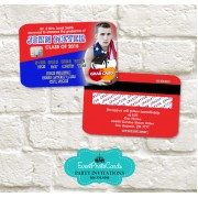 College Graduation Party Invitations - Red & Blue