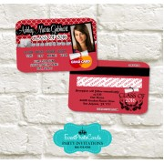 Red Graduation Invitation Card - Credit Card
