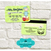 Kindergarten Graduation Announcement Cards - Boy Green