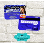 Purple Graduation Announcement Cards - Credit Card