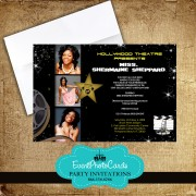 Hollywood Star Sweet 16 Invitations #2