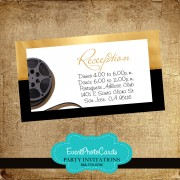 Hollywood Reception Card