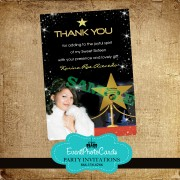 Hollywood Awards Thank you Card