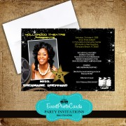 Filmstrip Sweet 16 Moviestar invitations