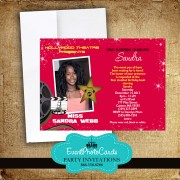 Red Oscars Sweet 16 Moviestar invitations