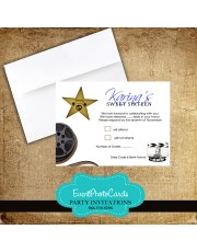 Hollywood Awards Matching RSVP Card
