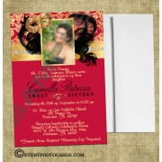 Masquerade Wine Burgundy  Quince Invites Photo Invitations