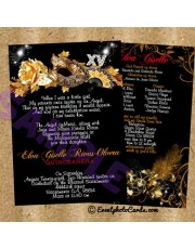 Gold Masquerade Quince Invitations