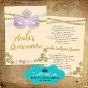 Gold & Silver Masquerade Invitations