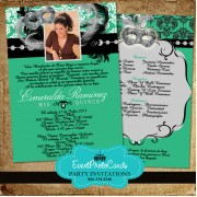 Green Masquerade Invitations