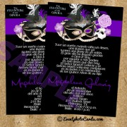Phantom of the Opera invitation Cards - Purple  #3
