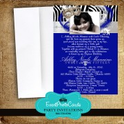 Royal Blue  Masquerade Quinceanera Invitations