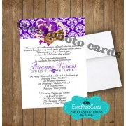 Purple Elegant Invitations A