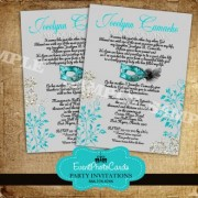 Mask Turquoise and Silver Quinceanera Invitations