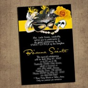 Phantom of the Opera invitation Cards Yellow
