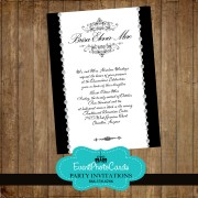 Black & White Quinceanera Invitations