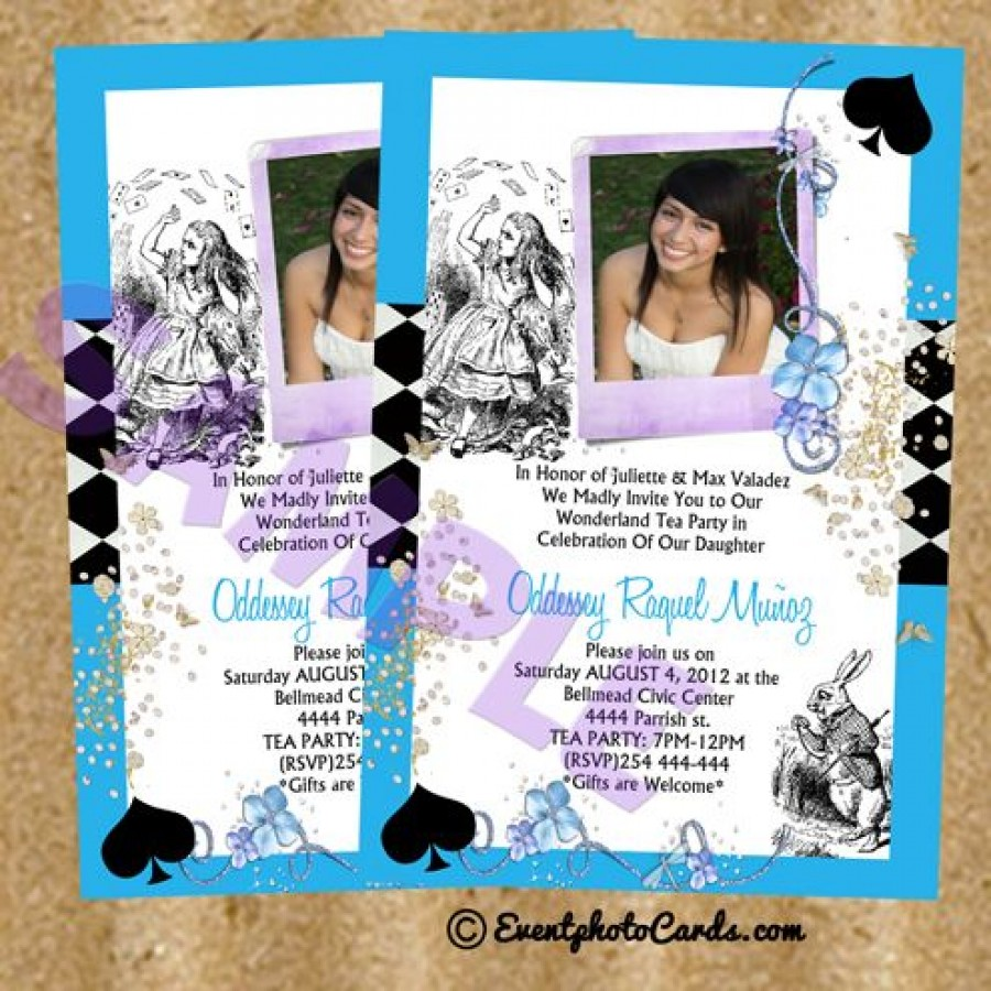 c64f483879a Blue Alice in Wonderland Quinceanera Sweet Sixteen Birthday Party
