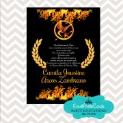 Hunger Games - Invitations Birthday 15