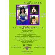 Lime Green Modern Quinceanera Invitation T4