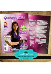 Magazine Cover - Quinceanera Invitation