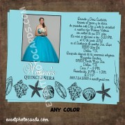 Seashell Beach Quinceanera Invitation