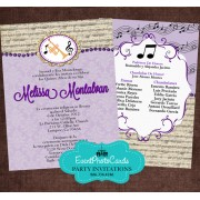 Music Band Quinceanera Invitations - Trump