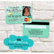 Paris Credit Card  - Mint Color Invitations