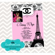 Paris Chanel Quinceanera Invites - Photo