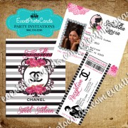 Coco Lover Passport  Quinceanera Invitations