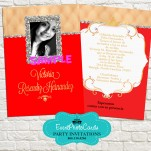 Red & Gold Quinceanera Invitations Photo