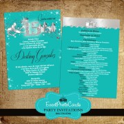 Aqua Princess Sweet  Fifteen Invitation Design